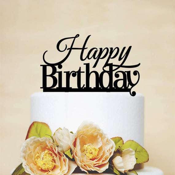 Wondrous Happy Birthday Cake Topper Sterling Laser Designs Birthday Cards Printable Giouspongecafe Filternl