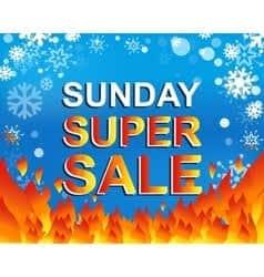 Sunday super specials